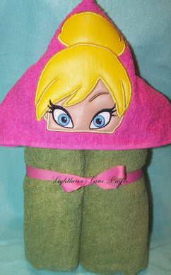 Character Inspired Hooded Towel - Fairy Princess