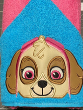 Helicopter Pup Hooded Towel
