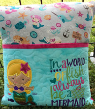 Mermaid Book Pillow