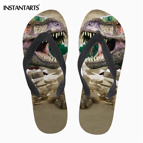 58a86a64d Mens Cool 3D Shark Flip Flops Summer Rubber Flipflop Non-Slip Beach Water  Shoes