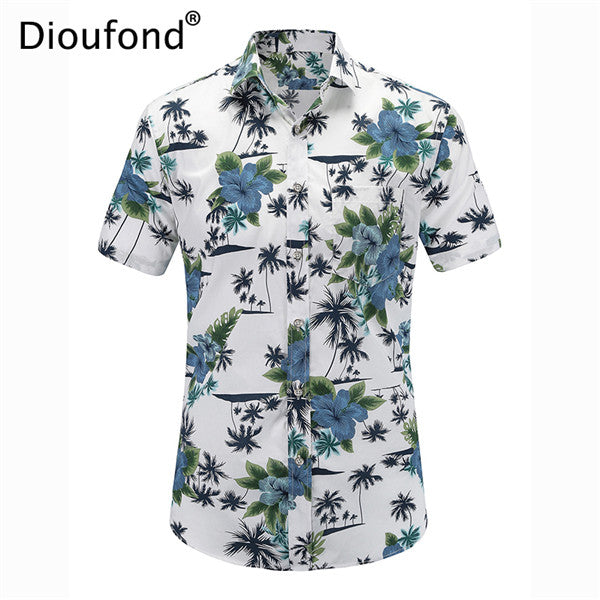 999d95f8 Mens Casual Short Sleeve Summer Hawaiian Aloha Button Down Floral Pineapple Print  Shirt