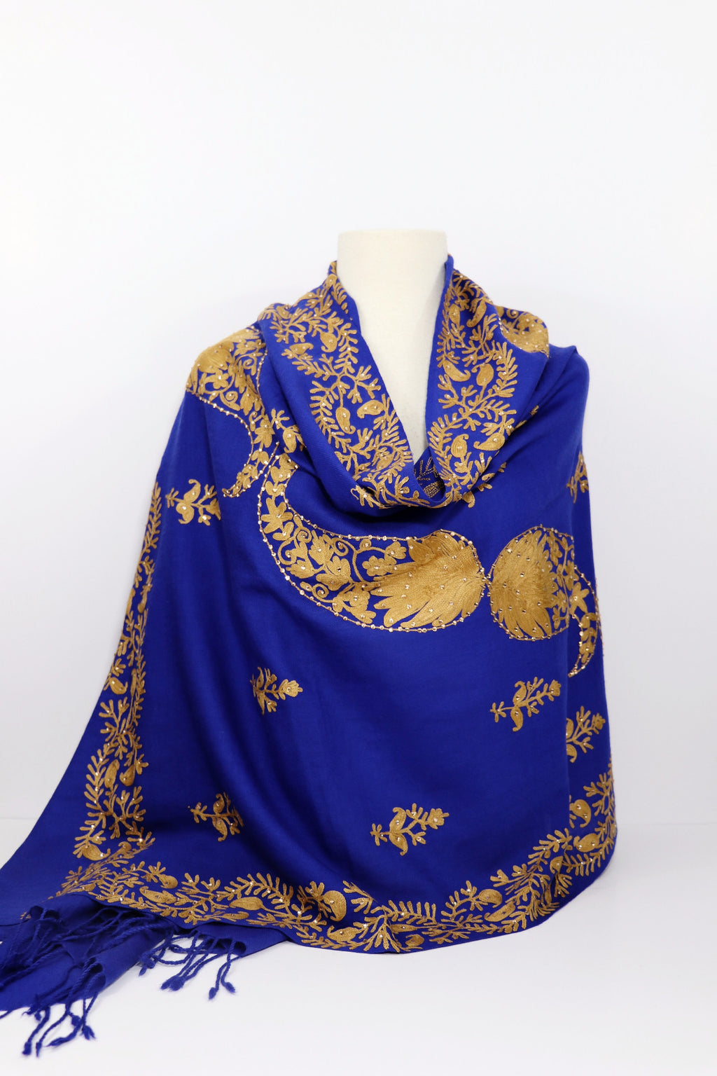 Embroidered Shawls with Wide Border