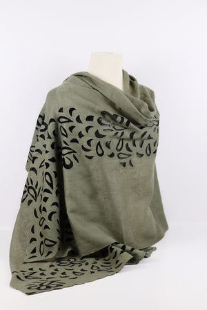 Pashmina Blended Cut Work Netted Shawl