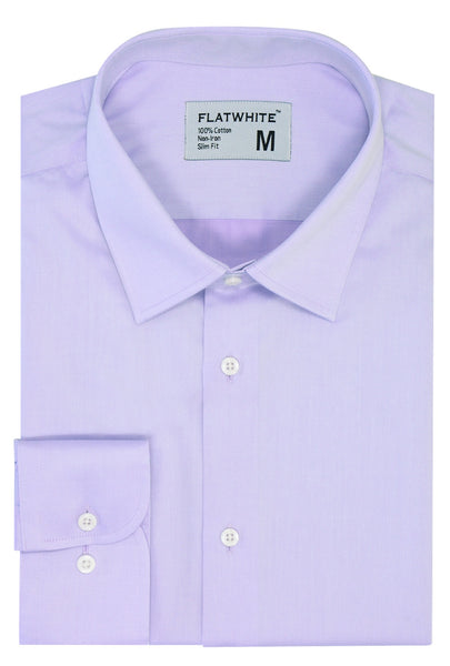 Flatwhite non iron shirts - Everyday Lilac