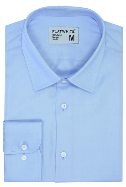 Flatwhite non iron shirts - Sky High