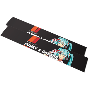 Retro Racing Miku Banner「Black」