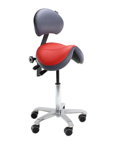 Score Jumper Saddle Stool with Backrest (Code A120)