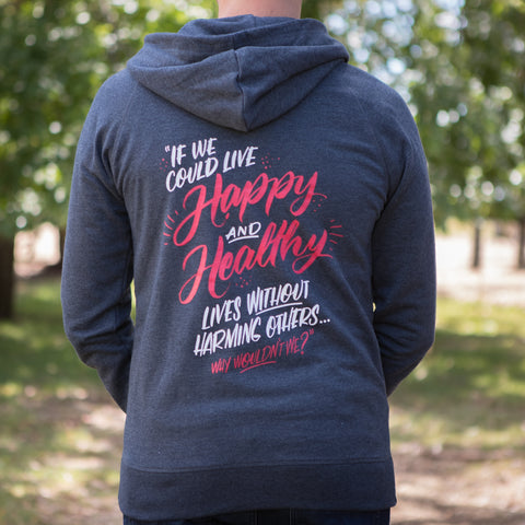 Organic Recycled Quote Zip Hoodie
