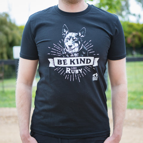 Be Kind Like Ruby Black Tee