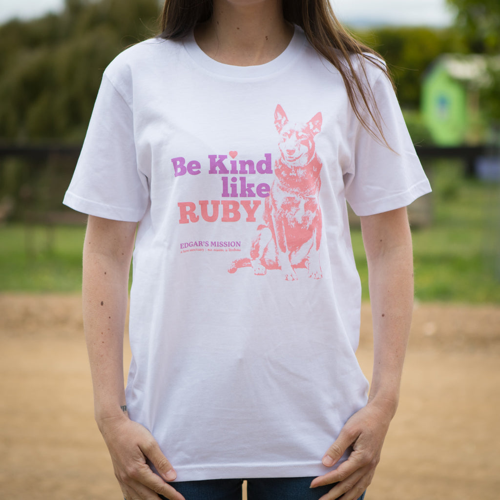 Be Kind Like Ruby White Tee