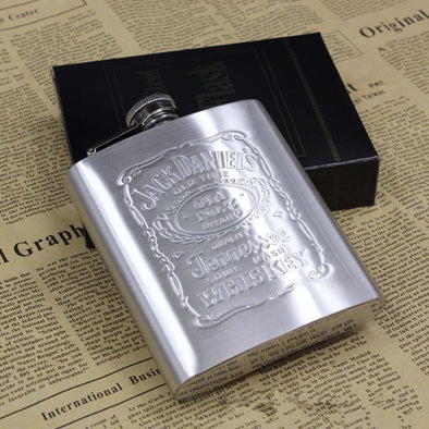 Jack Daniels stainless steel hip flask