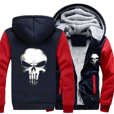Punisher winter fleece hoodie