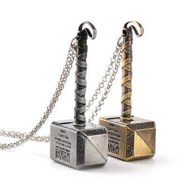 Thor hammer pendant and necklace