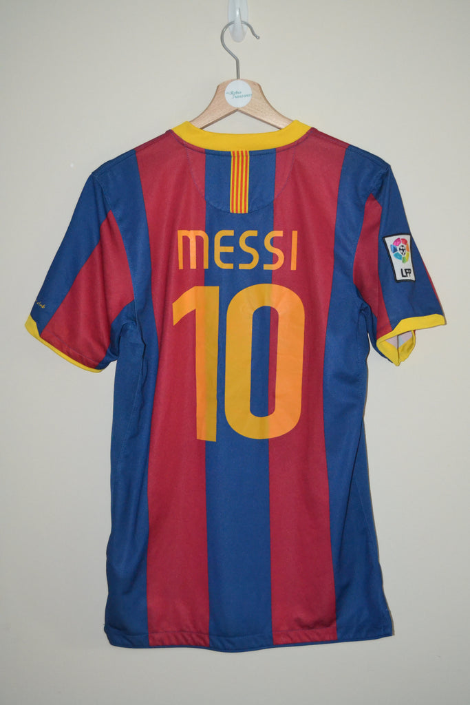 huge selection of ed4c6 887de BARCELONA NIKE DRI-FIT UNICEF MESSI 10 HOME SHIRT UK SMALL MENS