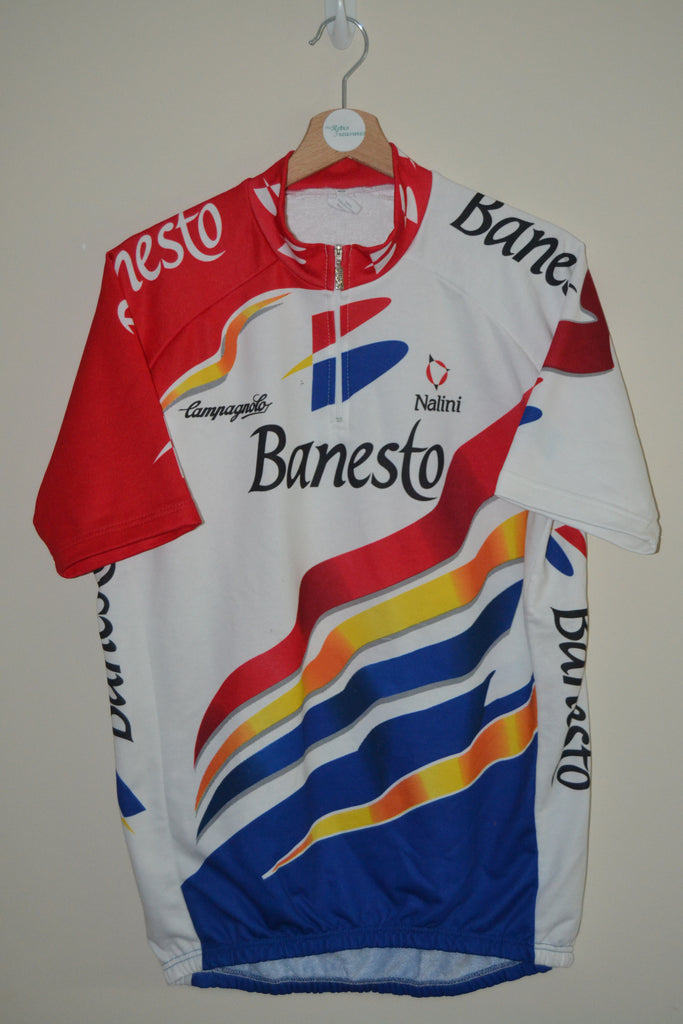 RETRO BANESTO NALINI MULTI COLOURED CYCLING JERSEY MENS XXL SIZE 6 1d5b1e5ed