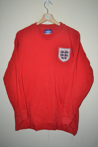 RETRO UMBRO ENGLAND 1966 LONG SLEEVE SHIRT UK XL MENS 6539e438f