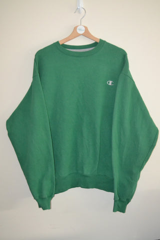 RETRO CHAMPION ECO GREEN URBAN WAVEY SWEATSHIRT UK XL MENS 07392a7ab