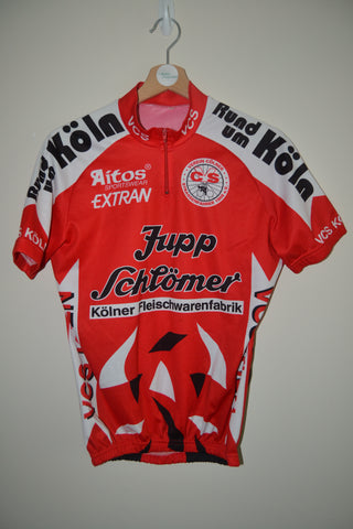 RETRO AITOS JUPP SCHLOMER RED CYCLING SHORT SLEEVE JERSEY MENS SIZE MEDIUM 96e8df0c2