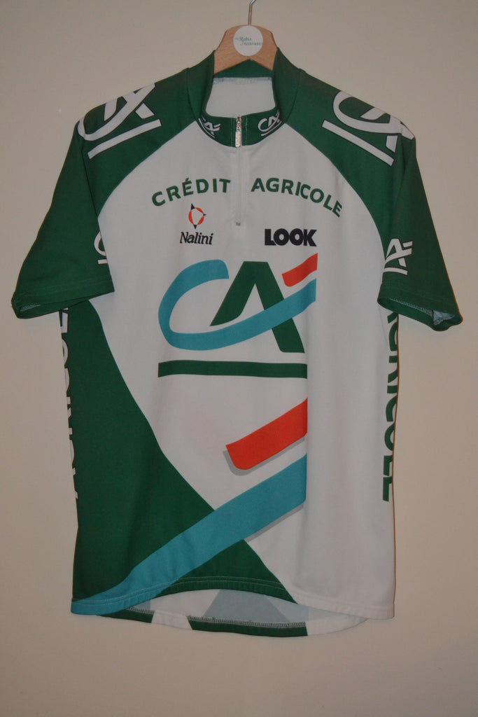 RETRO CREDIT AGRICOLE NALINI LOOK SHORT SLEEVE CYCLING JERSEY TOP MENS – My- retro-treasures 521fe17a4
