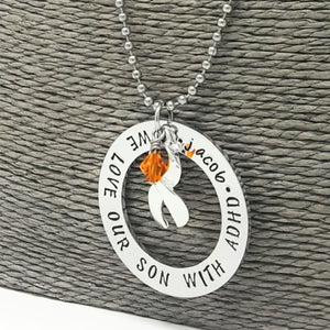 A.D.H.D Awareness  I Love A Child With Adhd necklace  Adhd Jewelry  Orange Cause Jewelry, Necklaces, HandmadeLoveStories, HandmadeLoveStories , [Handmade_Love_Stories], [Hand_Stamped_Jewelry], [Etsy_Stamped_Jewelry], [Etsy_Jewelry]