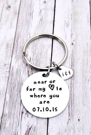 Long distance Relationship, Near or Far, Miles Apart Gift
