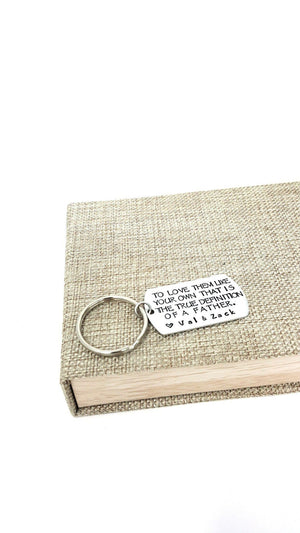 Stepfather Gift, Step Dad Keychain,  Step Dad Gift, Thank You Keychain, Father's Day, Father Gift, Keychains, HandmadeLoveStories, HandmadeLoveStories , [Handmade_Love_Stories], [Hand_Stamped_Jewelry], [Etsy_Stamped_Jewelry], [Etsy_Jewelry]