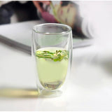 1 Pcs Heat-resistant Double Wall Glass Cup Beer Coffee Cup Set Handmade Creative Beer Mug Tea glass Whiskey Glass Cups Drinkware