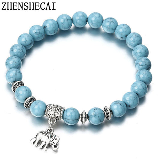 2018 Bracelet Classic Acrylic Blue Beaded Bracelets for Men Women Best Friend Hot popular A56