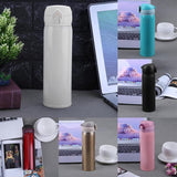 450ml Travel Mug Water Thermos Stainless Steel Double Wall Thermal Cup Bottle Vacuum Cup School Home Tea Coffee Drink Bottle