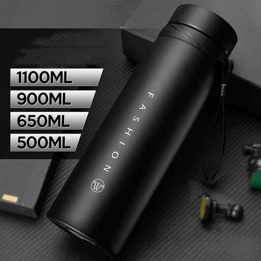 500/650/900/1100ml Thermos Bottle Stainless Steel Tumbler Insulated Water Bottle Portable Vacuum Flask for Coffee Mug Travel Cup
