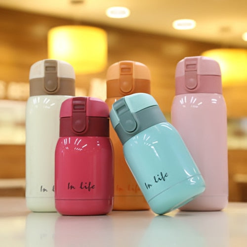 Mini Thermos Kids Cup Bottle Stainless Steel Thermo cup Vacuum Cups Coffee Mugs Termos children belly mug school thermal bottle