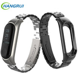 Stainless steel wrist strap for xiaomi mi band 3 4 metal watch band smart bracelet miband 3 belt replaceable watch straps mi 3