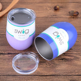 Swig Wine Cups Swig Cup Insulated Thermos Coffee Mug Vacuum Thermos Cup Travel Mug Swig Tumber 9OZ Egg Shaped cup Wine beer Mug