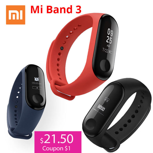Xiaomi Mi Band 3 Miband 3 Smart Wristband With 0.78' OLED Touch Screen Waterproof Heart Rate Fitness Tracker Smart Bracelet