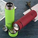 ZOOOBE Thermos Tea Vacuum Flask With  Filter Stainless Steel 304 Thermal Cup Coffee Mug Water Bottle Office Business Home Thermo