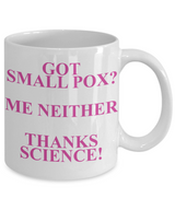 Cool Science Mugs - Science Novelty Mugs - Cute SmallPox Coffee Mug