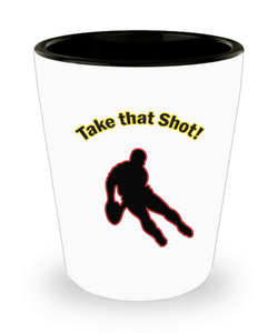 Funny Rugby Gifts - Rugby Shot Glass - Rugby Players Need A Shot Too