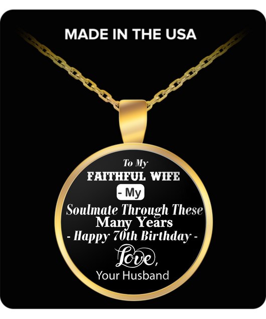 TO MY FAITHFUL WIFE NECKLACE