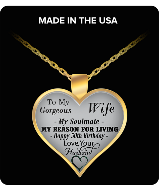 TO MY GORGEOUS WIFE MY SOULMATE NECKLACE