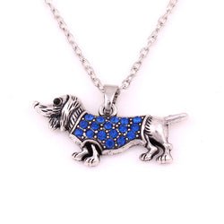 2016 Fashion New Jewelry Necklare Hot selling Crystal Dog Choker Necklace Chain Collar Pendant