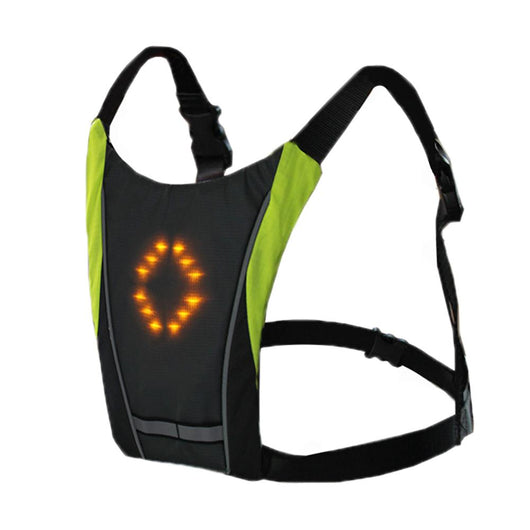 Reflective Vest Safety Outdoor Running Outdoor Waterproof LED Vest Turn Signal / Night Work / Foot / Bicycle Wrap Vest  New 2019 LED Wireless cycling vest 20L MTB bike bag Safety LED Turn Signal Light Vest Bicycle Reflective Warning Vests with Remote