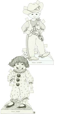 Caroline & Danny by Mary Engelbreit Printable Paper Dolls