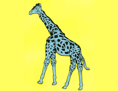 Giraffe Jointed Vintage Printable Paper Doll
