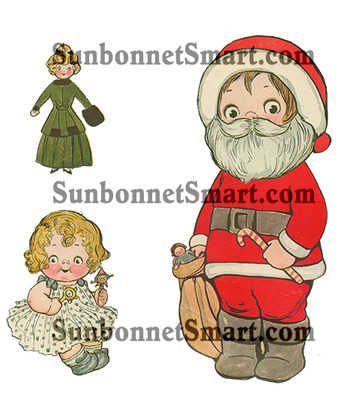Dolly Dingle's Christmas Party Part II Printable Paper Dolls - Billie Bumps