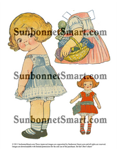 Dolly Dingle Makes a Dress and Darns Socks Printable Paper Doll
