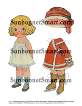 Dolly Dingle and Sammy Go Ice Skating Printable Paper Dolls