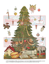 Dolly Dingle and her Christmas Tree Printable Paper Dolls
