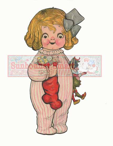 Dolly Dingle's Christmas Party: Part I Printable Paper Doll - ENLARGED Dolly and her Christmas Tree