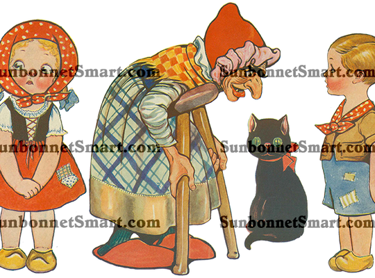 Dolly Dingle in Hansel and Gretel Printable Paper Dolls