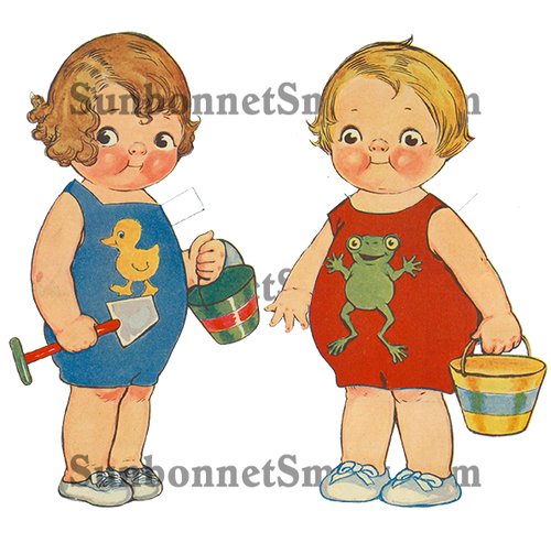 Dolly Dingle Friends Peggy-Anne and Joel Printable Paper Dolls